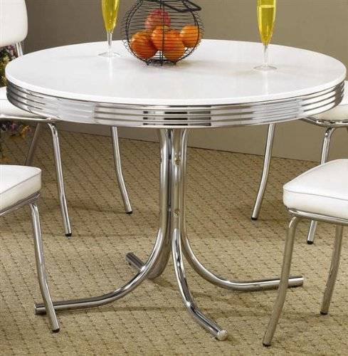 how to 50 39 s retro nostalgic style chrome plated round dining table