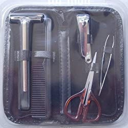 Mens Grooming Travel Kit! 6 items! w/ Case
