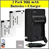 Big Mike'S 2 Pack Of Nb-11L Batteries & Battery Charger Kit For Canon Powershot Elph 110 Hs Elph 320 Hs Digital Camera Includes Battery + Ac/Dc Battery Charger + Lcd Screen Protectors + Cleaning Cloth