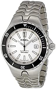 Ebel Men's 1215462 Sportwave Diver White Dial Watch by Ebel