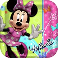 Minnie Mouse Party Plates - Minnie Square Paper Dinner Plates - 8 Count from Hallmark
