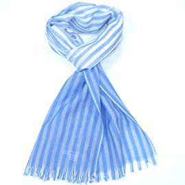 Women's Striped Shawl Wrap/Stole-Extra Fine Merino Ladies Scarf cum shawl and wrap - Made in Scotland