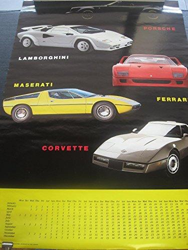 1988-Porsche-Lamborghini-Ferrari-Maserati-Corvette-vintage-wall-poster-PBX1846