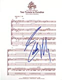 """Eddie Money - Authentic Autographed """"Two Tickets to Paradise"""" Sheet Music"""