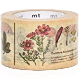 "Cinta adhesiva decorativa ""washi"" ancha plantas mt"