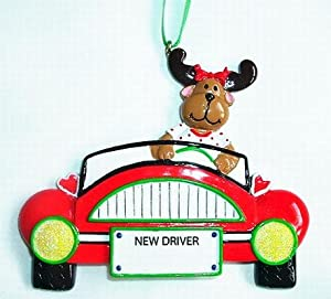 Girl Driver New Driver License Personalized Christmas Ornament