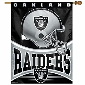 NFL Oakland Raiders 27-by-37 Inch Vertical Flag by WinCraft