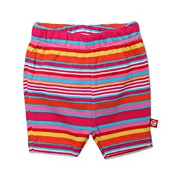 Zutano Baby-girls Infant Fuchsia Stripe Bike Shorts, Multi, 6 Months