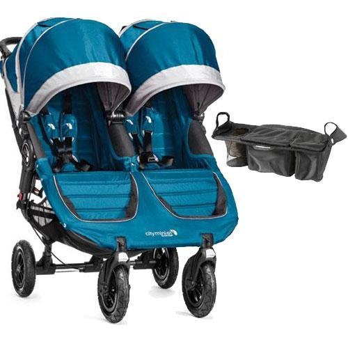 Baby Jogger - City Mini Gt Double Stroller With Parent Console - Teal Gray front-1063854