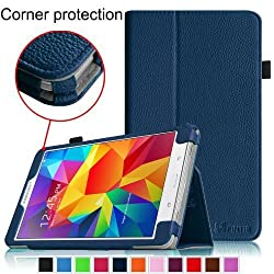 Fintie Samsung Galaxy Tab 4 7.0 Folio Case - Slim Fit Premium Vegan Leather Cover for Samsung Tab 4 7-Inch Tablet, Navy