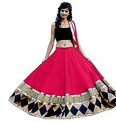 Sargam Fashion Embroidered With Embellished Pink Net Traditional Wedding Wear Lehenga Choli Set. - Kajukatarilehengha
