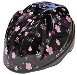 TETE ヘルメット スプラッシュハート ブラックフラワー XSサイズ(48-52cm)