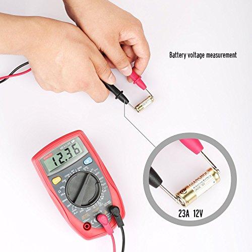 Etekcity®330 Multímetro Digital, con LCD Retroiluminación, 2 Años de Garantía, Medir AC/DC Corriente, Voltaje, Resistencia, Diodos, etc., 9V Batería y Cables de Prueba Incluidos