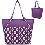 Super Sachi Hot/Cold 50-Can Insulated Cooler Picnic Lunch Bag Ikat Plum