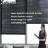 karlleo-curtain Motorized/Electric Window Cellular Honeycomb Blinds Shades(top down bottom up) Websize Priced at(1pc,39