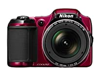 Nikon COOLPIX L820 16 MP CMOS Digital Camera with 30x Zoom Lens and Full HD 1080p Video (Red)