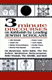 3 Minute Discourses on Kabbalah by Leading Jewish Scholars (0765761947) by Steinsaltz, Adin