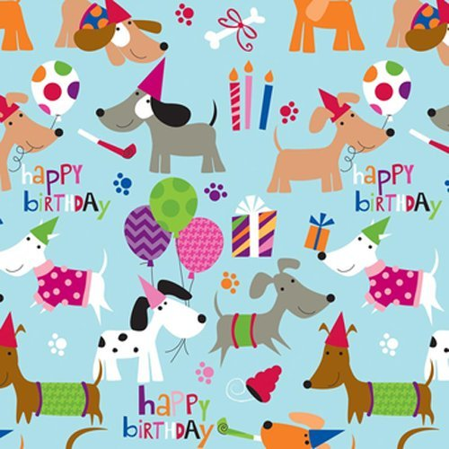 The Gift Wrap Company Company Deluxe Quality Gift Wrap Roll, Party Pups front-740796
