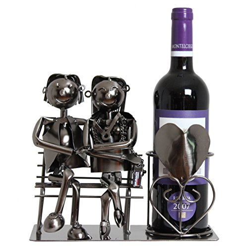 BRUBAKER Wine Bottle Holder Statue
