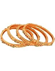 Handicraft Kottage Gold Metal Bangle Set For Women - Set Of 4 (HK-ABGM-3213)