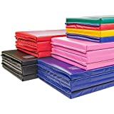 IncStores Premium Folding Mats Featuring 4 Sided Velcro - Ideal for Gymnastics, Tumbling, Cheerleading, Wrestling & Practice
