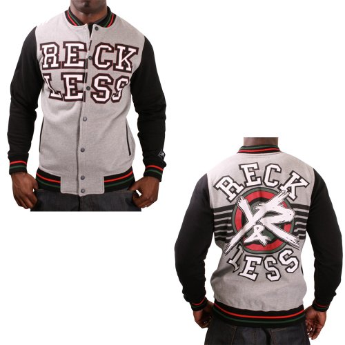 Women s and Men s Jacket  Young and Reckless Arch Men s Varsity ... 7d6160d22