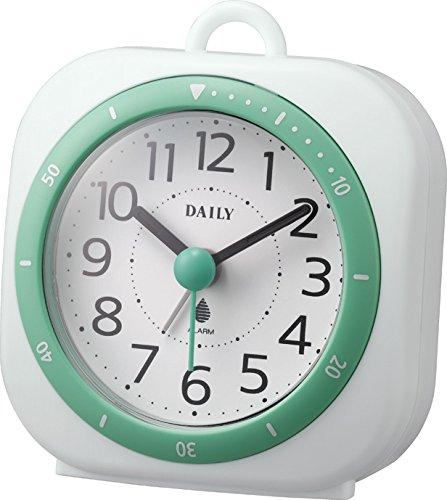 リズム時計 DAILY 目覚まし時計 アクアパークミニDN 防滴タイプ グリーン 4SE547DA05