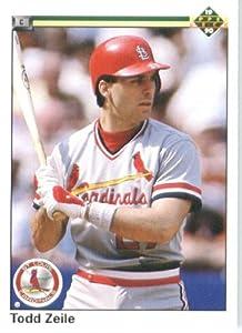 1990 Upper Deck # 545 Todd Zeile St. Louis Cardinals Baseball Card