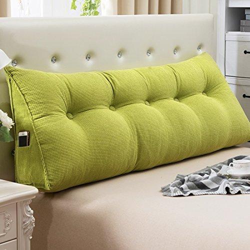 Doppia testa cuscini cuscino triangolo tatami cuscino del divano cuscino dello schienale pacchetto morbido Huyao ( colore : #8 , dimensioni : 22*50*150cm )