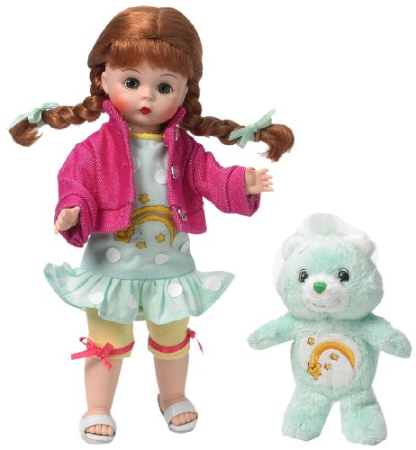 "Madame Alexander Dolls, 8"" Wendy Loves Wish Bear, Care Bear Collection, Americana Series"