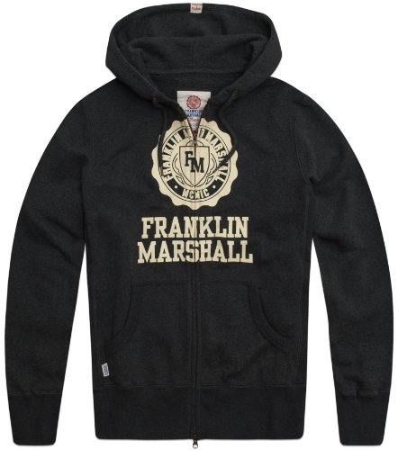 Franklin & Marshall Men's Fleece Sweater Flmc036W12 Jacket Grey (London Grey Mel.) 58/60