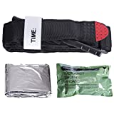 Tourniquet -  Along with military issue Israeli Style Dressing Compression Bandage and an emergency blanket -  The best Life Saving First Aid Trauma kit - FDA Registered - By Lia Medical