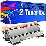 2 Toner-Patronen XXL PlatinumSerie Schwarz kompatibel für Brother TN-2010 HL-2130 HL-2132 HL-2135W DCP-7055 DCP-7055W DCP-7057