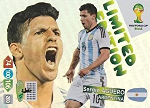 FIFA World Cup 2014 Brazil Adrenalyn XL Sergio Aguero Limited Edition by Panini