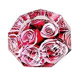 【Woliwowa】 美しい 薔薇の 花 デザイン ガラス製 灰皿 (レッド) [並行輸入品]