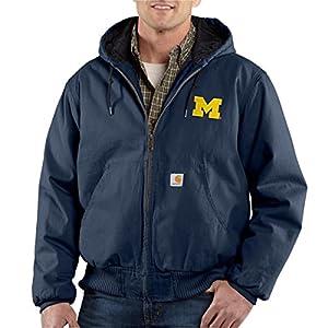 NCAA Michigan Wolverines Men's Ripstop Active Jacket, Navy, Large