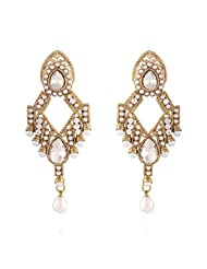 I Jewels Tradtional Gold Plated Elegantly Handcrafted Pair Of Fashion Earrings For Women. - B00N7INVDK