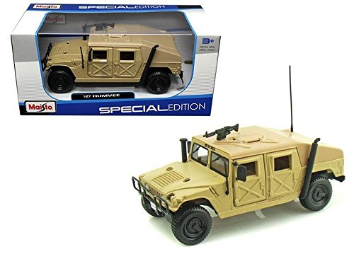 New 1:27 W/B SPECIAL EDITION - BEIGE BROWN Hummer Military Humvee Sand Diecast Truck Diecast Model Car By Maisto (Hummer Military Tires compare prices)