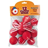 12-Pack of Novelty Red Foam Clown Noses by Pudgy Pedro's Party Supplies