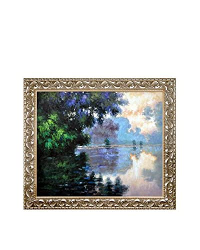 Claude Monet Morning On The Seine Near Giverny Framed Hand-Painted Reproduction