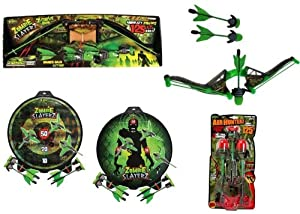 Zombie Slayerz Z-Hunter Bow + Target + Arrow Refill - 125 ft by Zing Toy