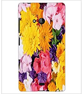 PrintDhaba Flowers D-2420 Back Case Cover for MICROSOFT LUMIA 540 (Multi-Coloured)