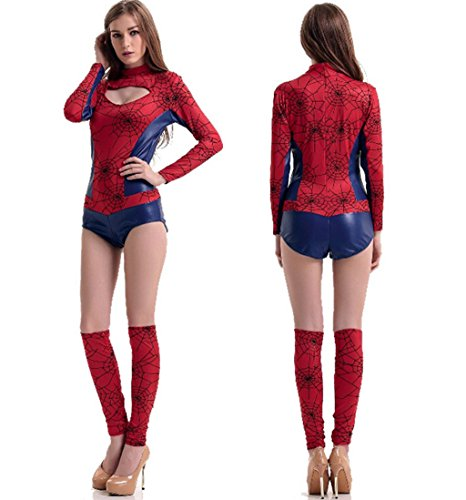 [Jooyi Women Animal Spider Fancy Sexy Halloween One-pieces Cosplay Costume Jumpsuits] (Sailor Moon Costumes Plus Size)