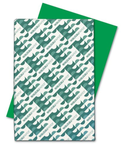 Wausau Astrobrights Heavy Duty Paper, 24 lb, 11 X 17 Inches, Gamma Green, 500 Sheets (22543)