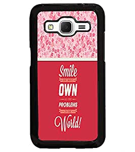 PrintDhaba Quote D-3292 Back Case Cover for SAMSUNG GALAXY CORE PRIME (Multi-Coloured)