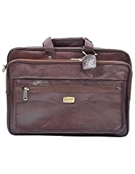 Gold Filled Portfolio Leather 10.5 Ltrs. Brown Briefcase GF 2250 PDM