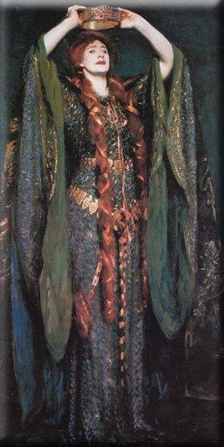 Miss Ellen Terry as Lady Macbeth 15x30 Streched Canvas Art by Sargent, John Singer
