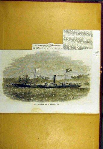 1857 Sporting Steam-Yacth Prince Halem-Pacha Print