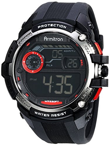 Armitron Sport Men's 40/8337BLK Red Accented Digital Chronog