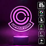 CMLART 3d Lamp Dragon Ball Capsule Corp Logo Night 7 Color Change Night Light LED Furnish Desk Table Lighting Home Decoration Toys